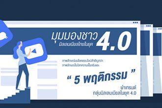 เผยมุมมองมิลเลนเนียลไทยยุค 4.0